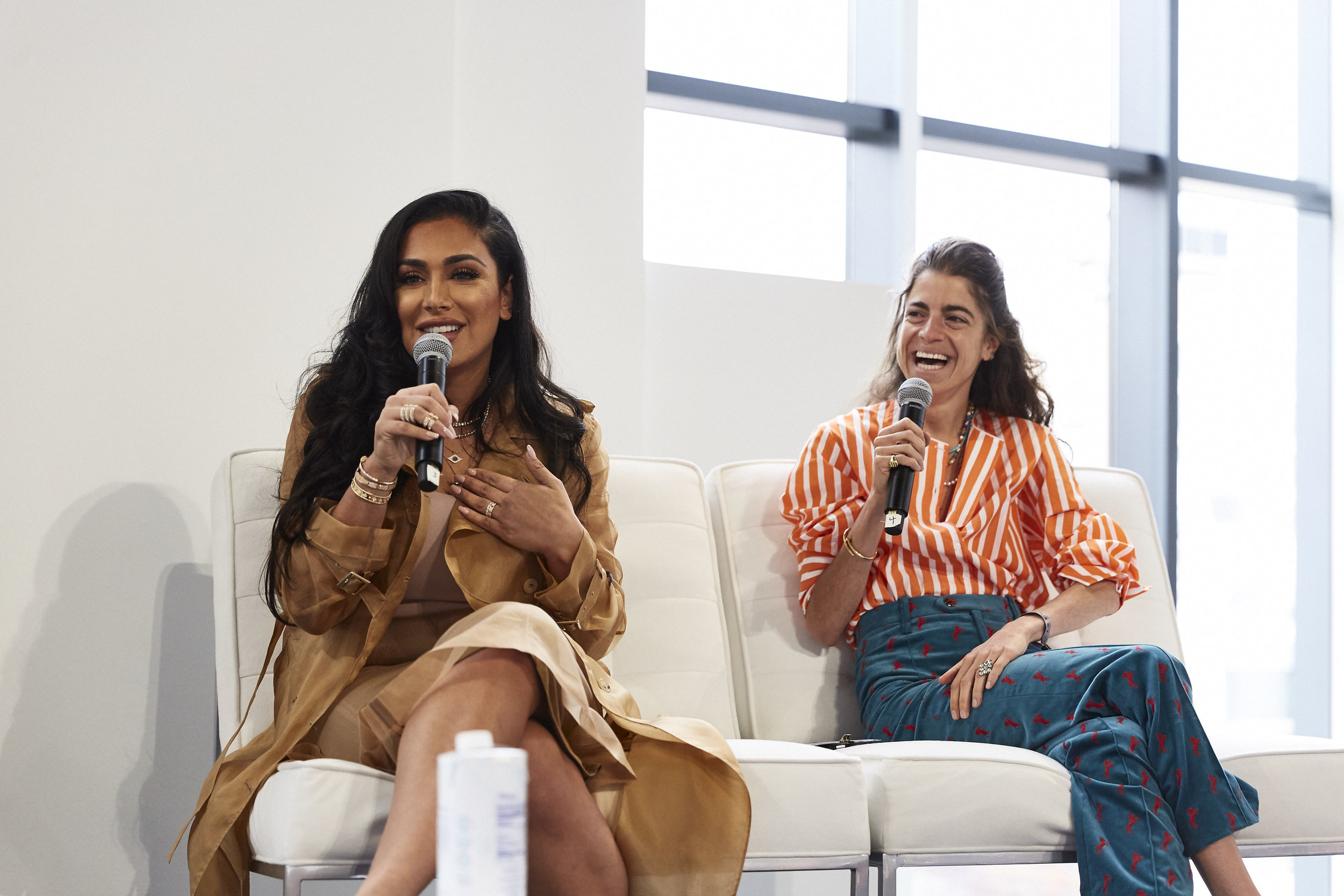 Huda Kattan (left) and Leandra Cohen of Manrepeller