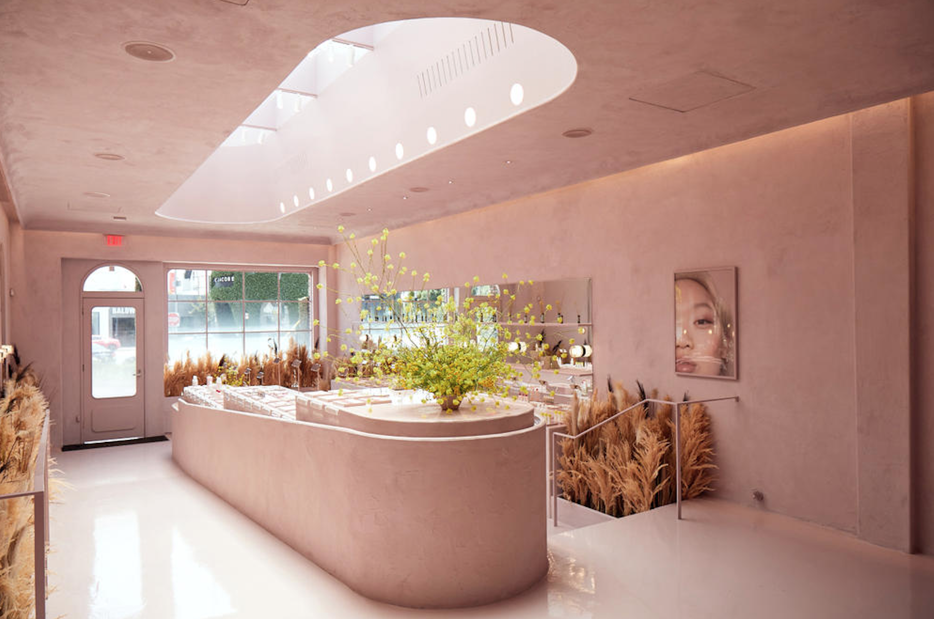 Glossier's dreamy permanent store in New York City