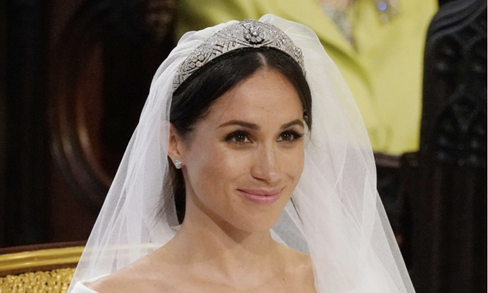 Meghan Markle's fresh face on her wedding day