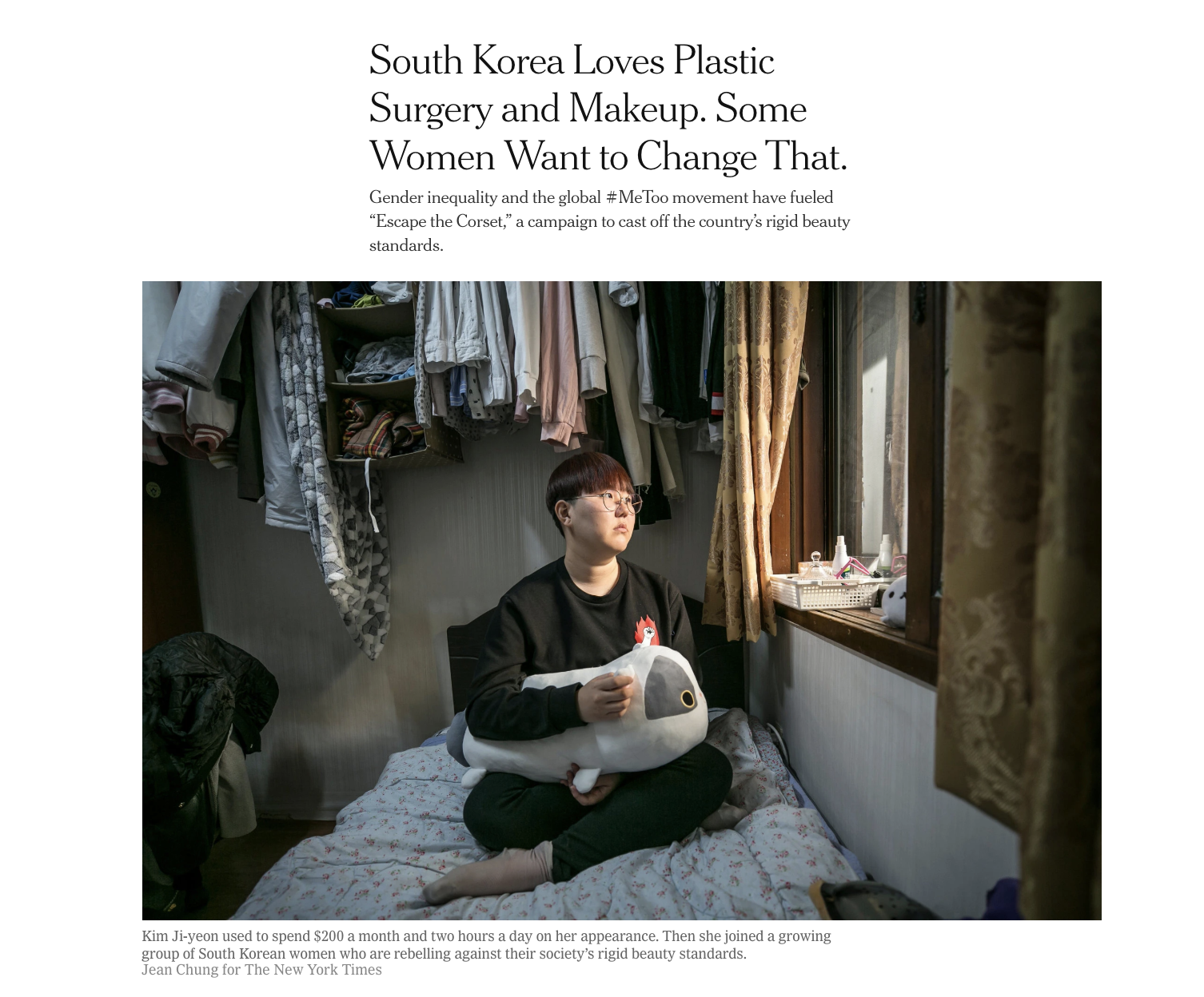 South Korean women rebel against their routines