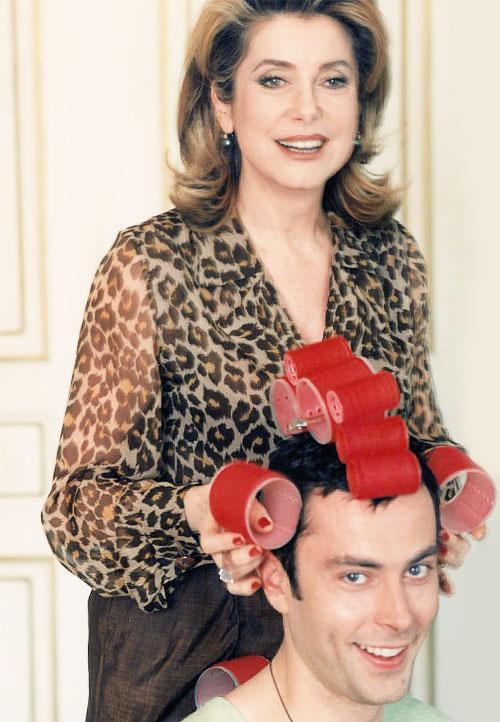 Christophe with long-time client Catherine Deneuve