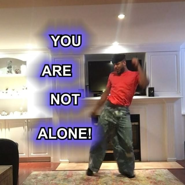 Donté Colley in one of his viral motivational dance posts