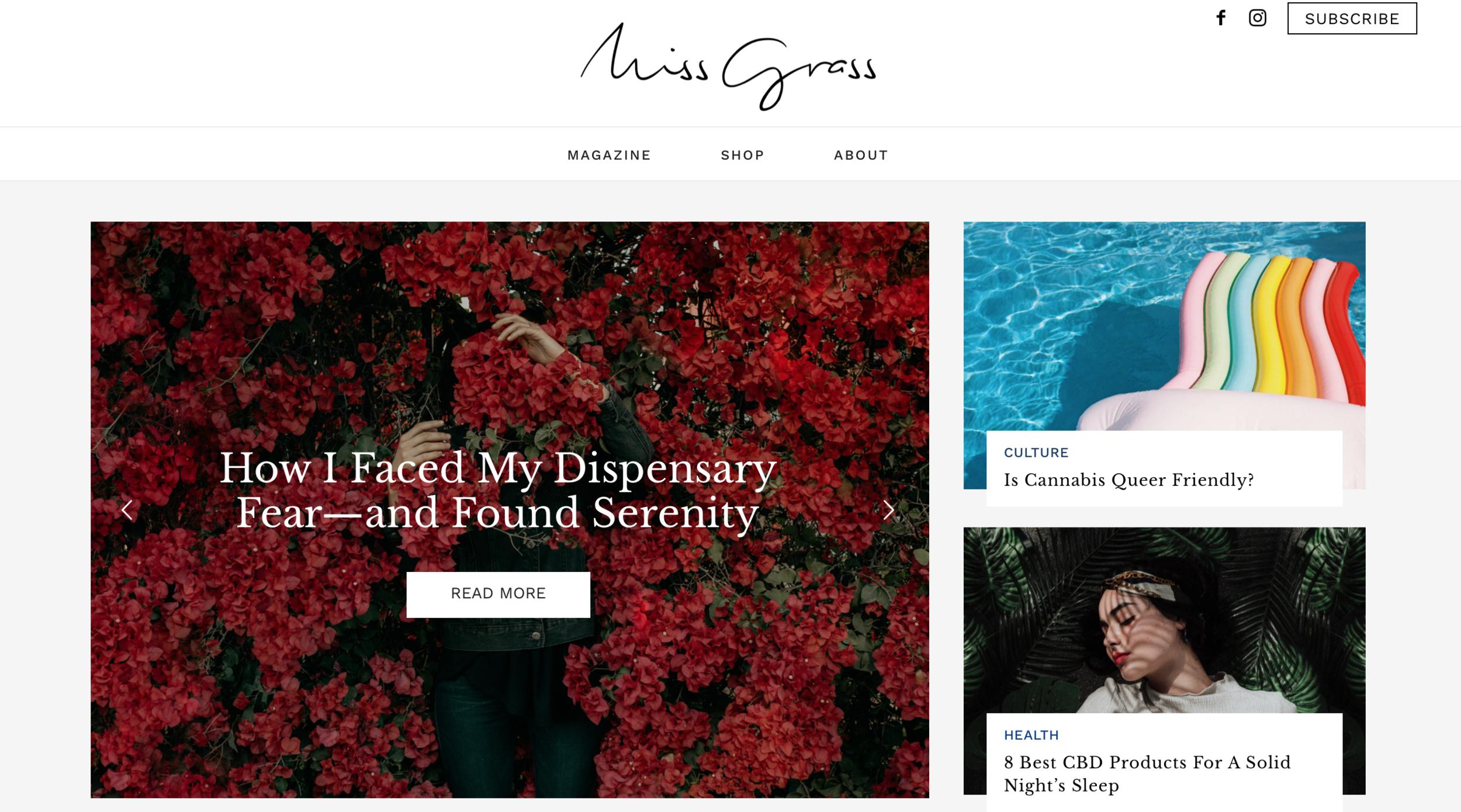 Good reads on the Miss Grass website