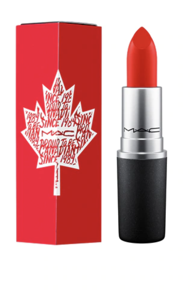 mac proud to be canadian red lipstick