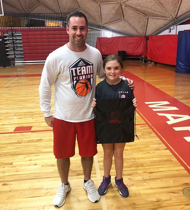 CAMPER OF THE DAY: Kaitlyn K. | Today we talked about how nothing great can be accomplished unless you are willing to step outside your comfort zone. Kaitlyn is the first girl who has attended Marauder Basketball Camp and she knew she would be the only girl. Kaitlyn works hard and strives to improve her basketball skills. 🏀 Congratulations, Kaitlyn!  Keep up the hard work!