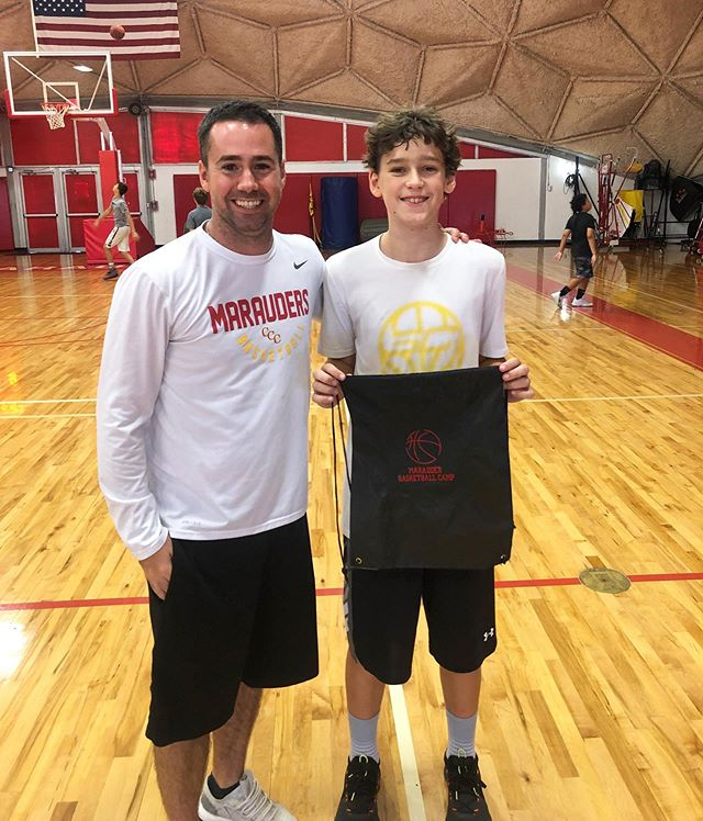 CAMPER OF THE DAY: Gavin E. | Gavin has been one of the first campers at camp every morning for two straight weeks. In addition to arriving early, Gavin spends that hour doing individual ball handling and shooting drills to continue improving his all around game! 🏀 Keep it up, Gavin!