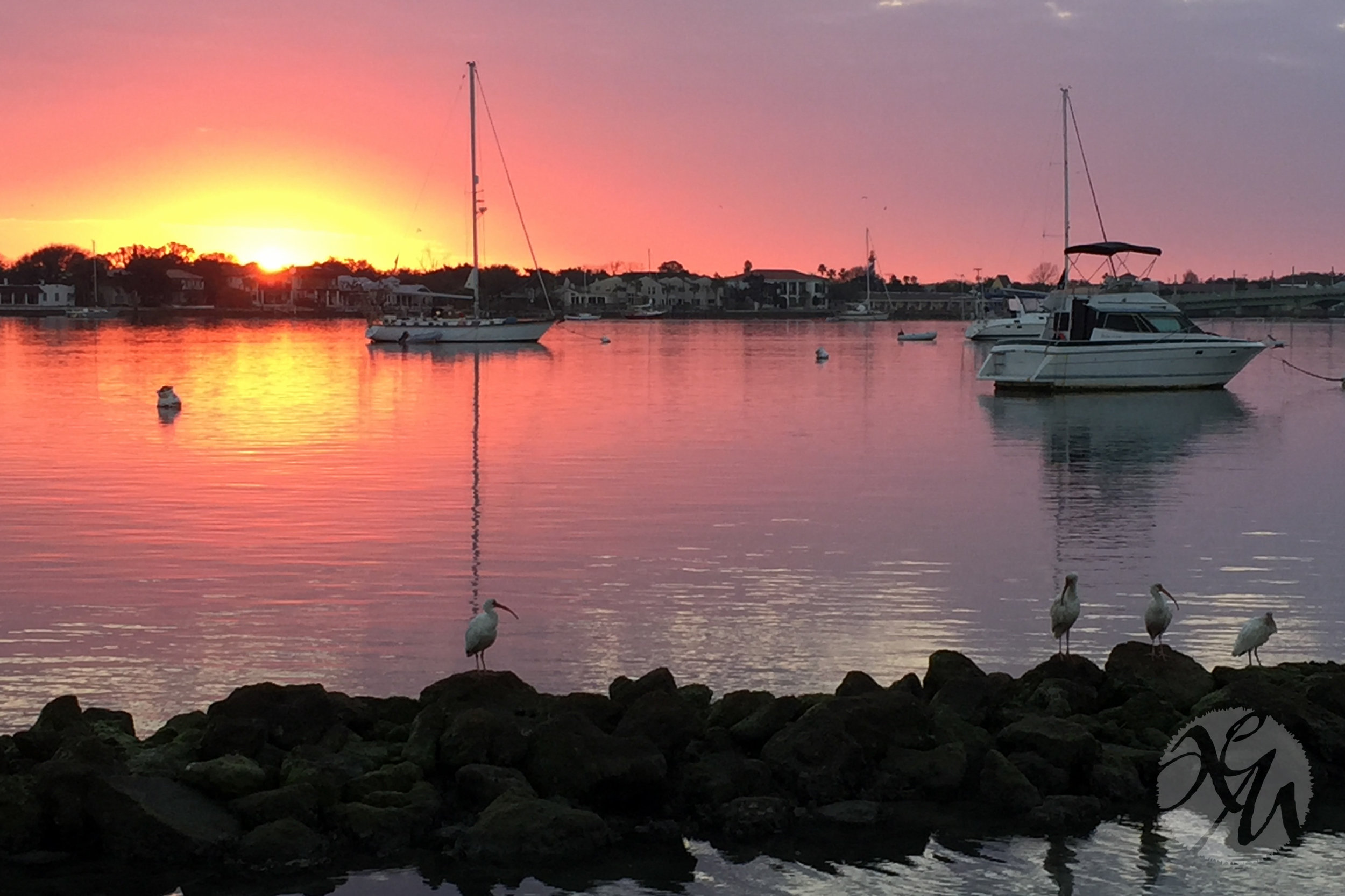 A particularly stunning sunrise in St. Augustine, Florida in February 2017.