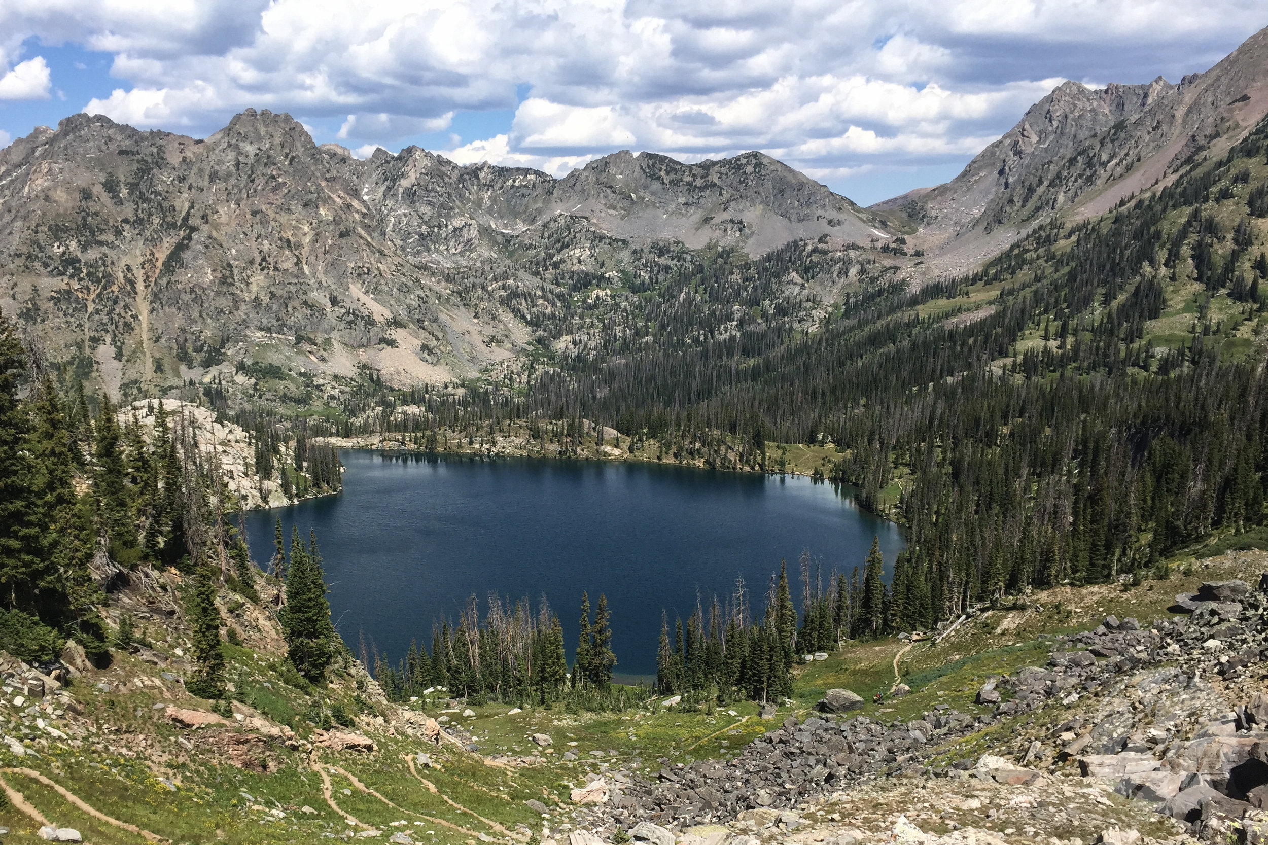 Gilpin Lake, high above Clark, CO in the Zirkel Wilderness area of Routt National Forest.