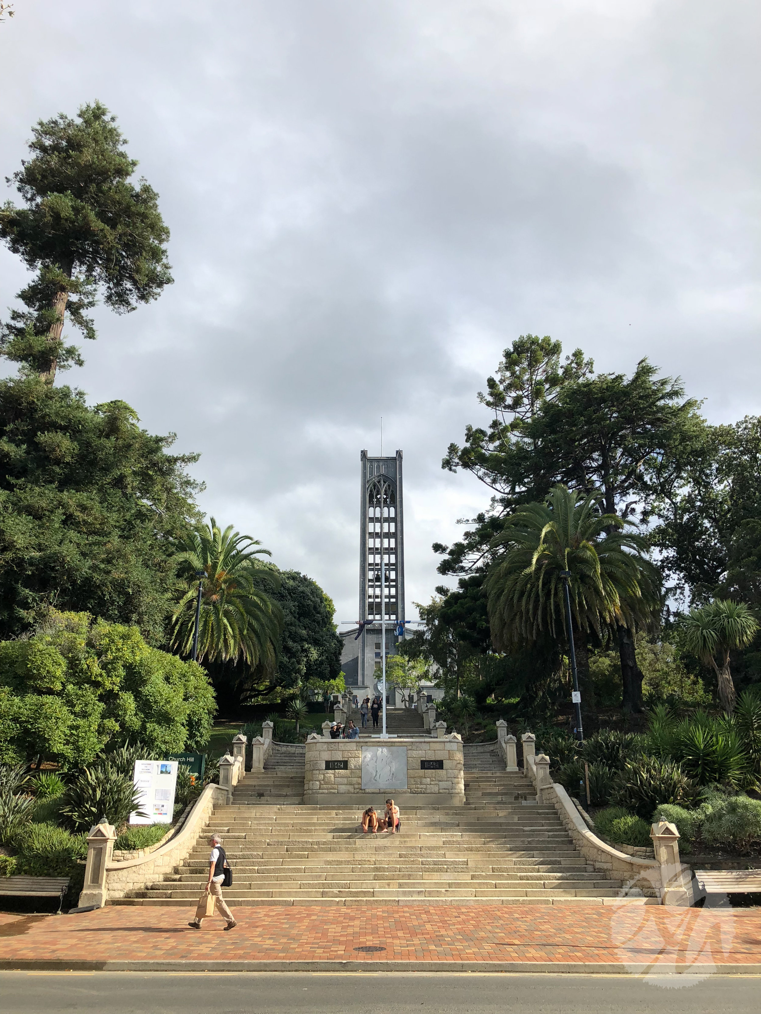 The centrally located bell tower in downtown Nelson