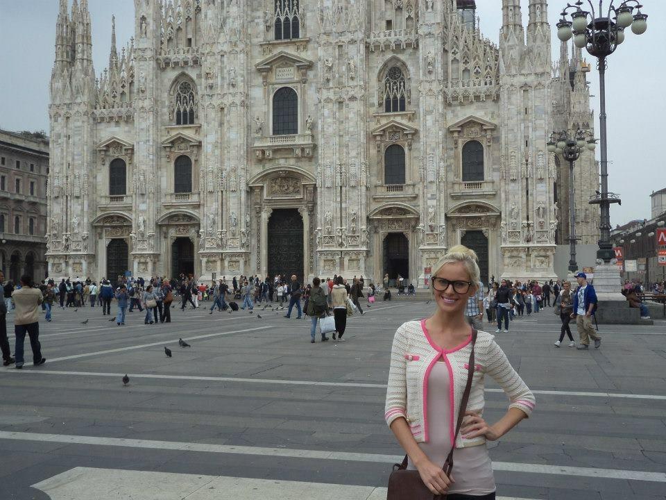 Travel Blogger Katy Johnson at Notre Dame