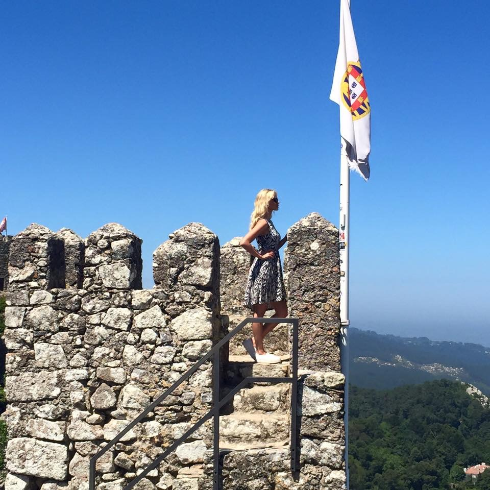 Travel Blogger Katy Johnson is the Queen of this castle.
