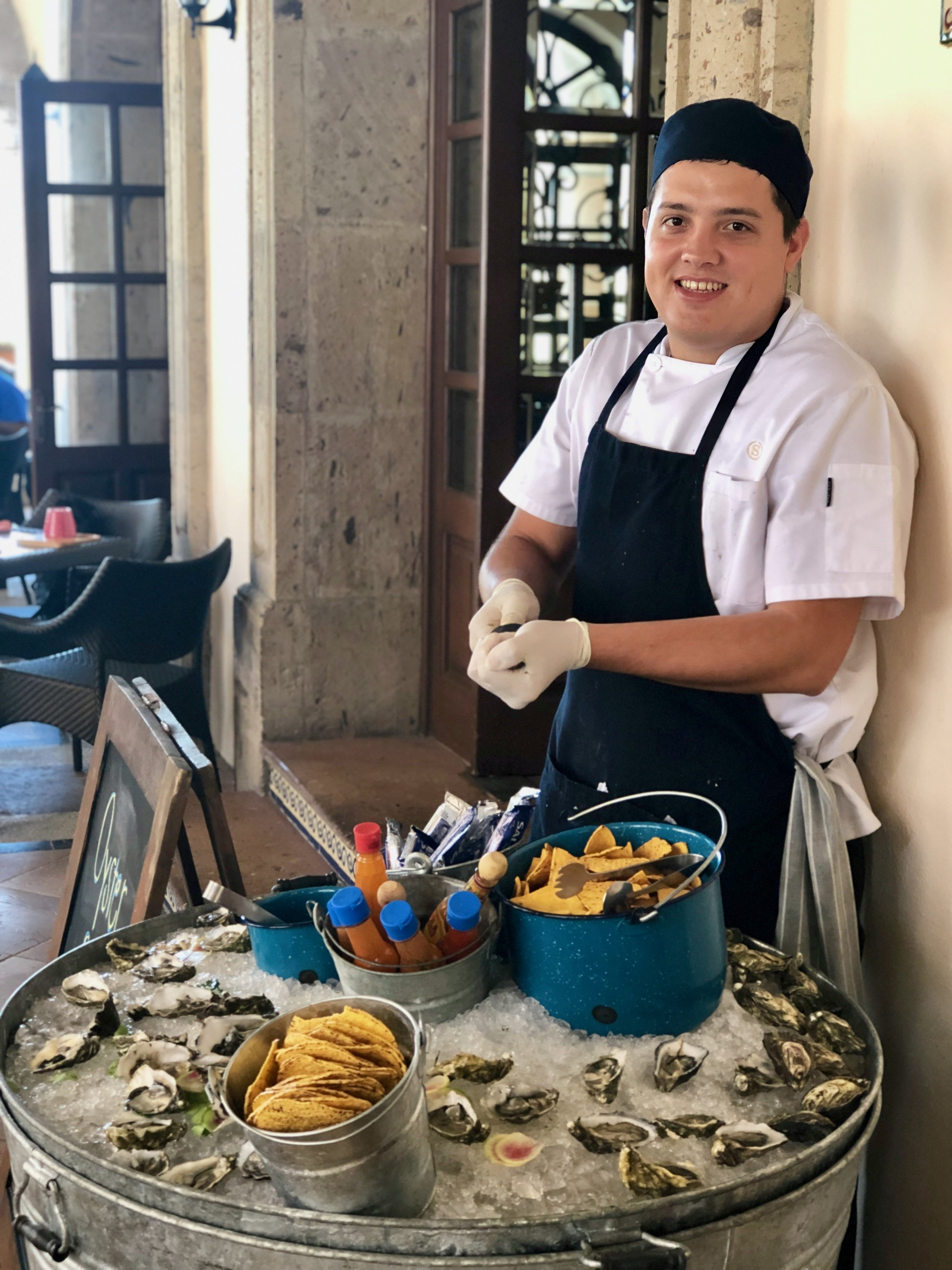 Fresh oyster bar at The Sheraton Grand Los Cabos.