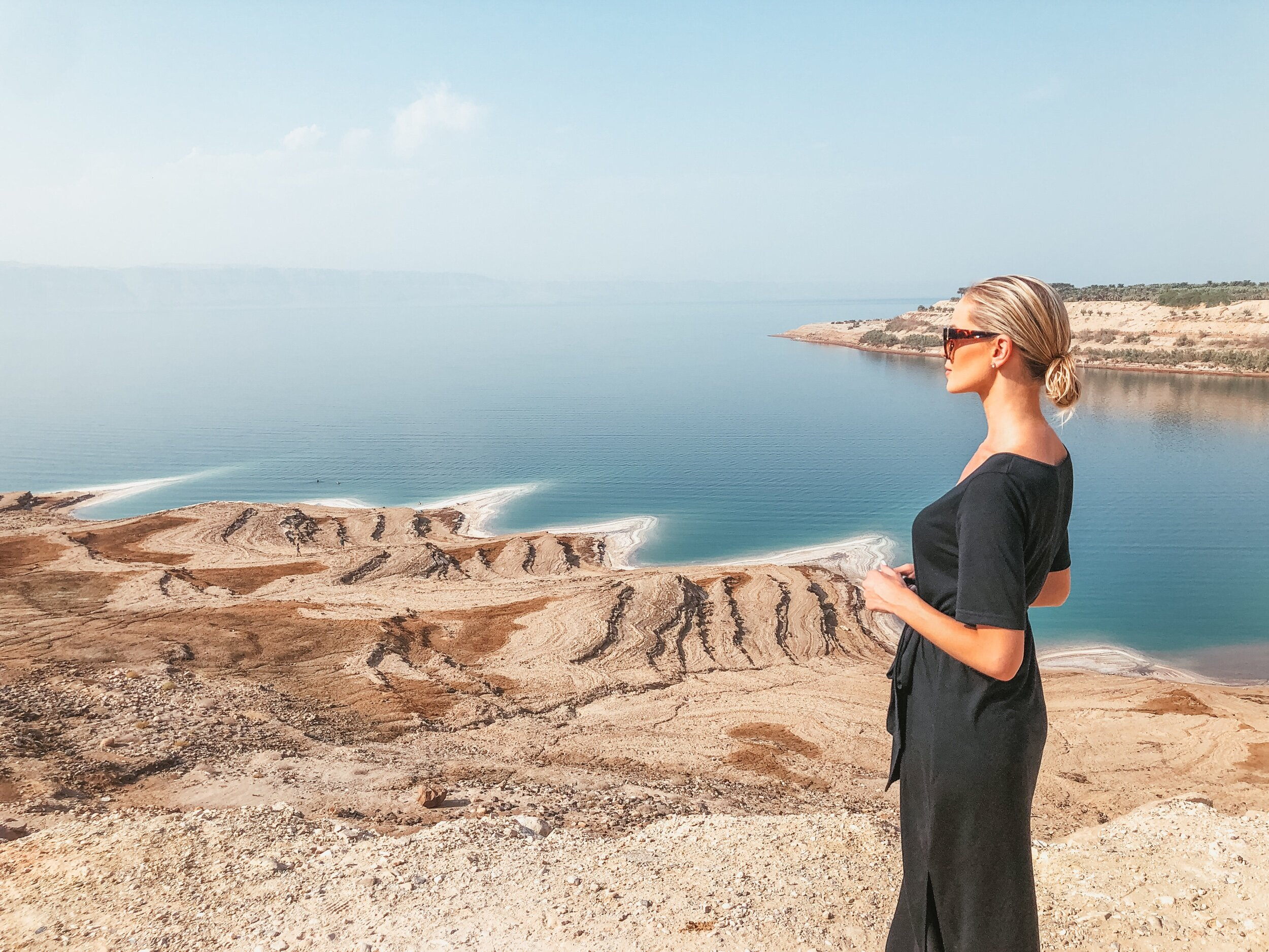 A look out South of the resort area of The Dead Sea.