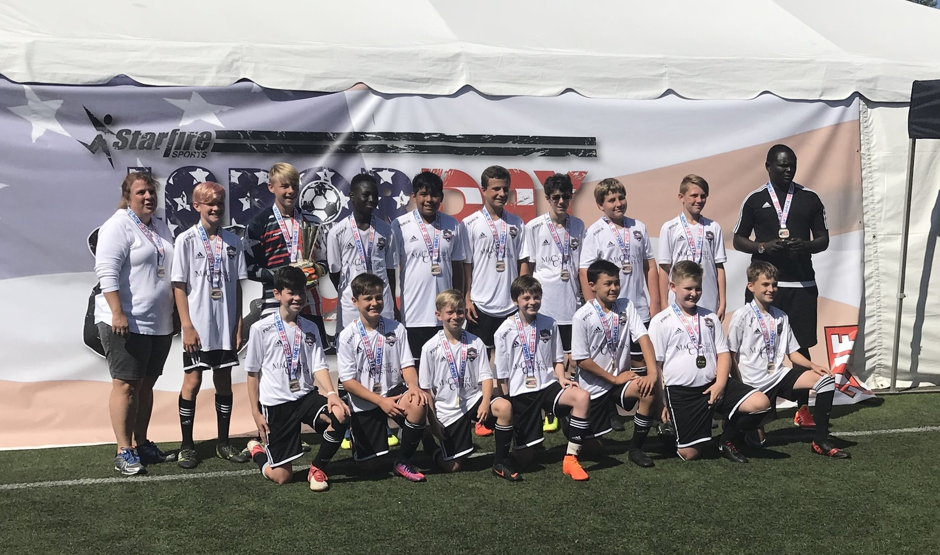Force '05 Boys—2018 Labor Day Cup Boys U14 Silver Division Champions