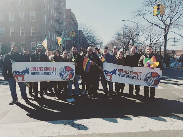 Thank you to all our members who joined us in marching and celebrating love and inclusion with Public Advocate Letitia James at #StPatsforAll! #QCYDDayofSolidarity