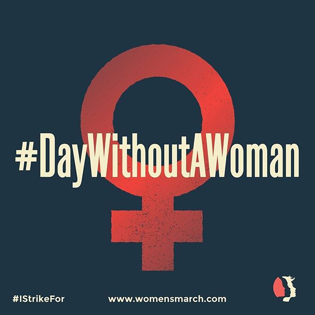 We stand with @womensmarch and take part in #DayWithoutAWoman. We recognize the enormous value #women contribute to our society and cannot imagine a world without them. Today we salute our mothers, daughters, sisters, grandmothers, wives, aunts, girlfriends, friends #womensmarch #internationalwomensday #IStrikeFor