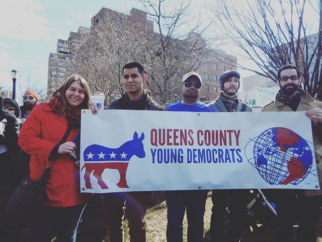 Thank you to all our members who came out to Queens Stands Together Rally today! #QueensStrong #QueensStandsTogether Photo credit: @thatboyfromqueens