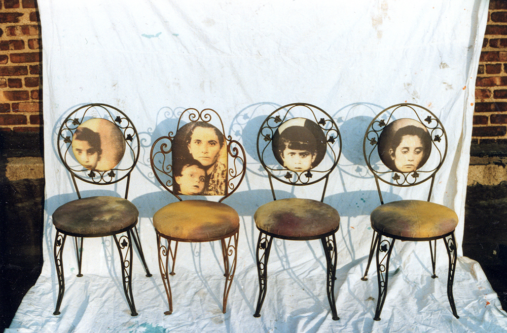Chairs decorated with Portraits of Italian Immigrants
