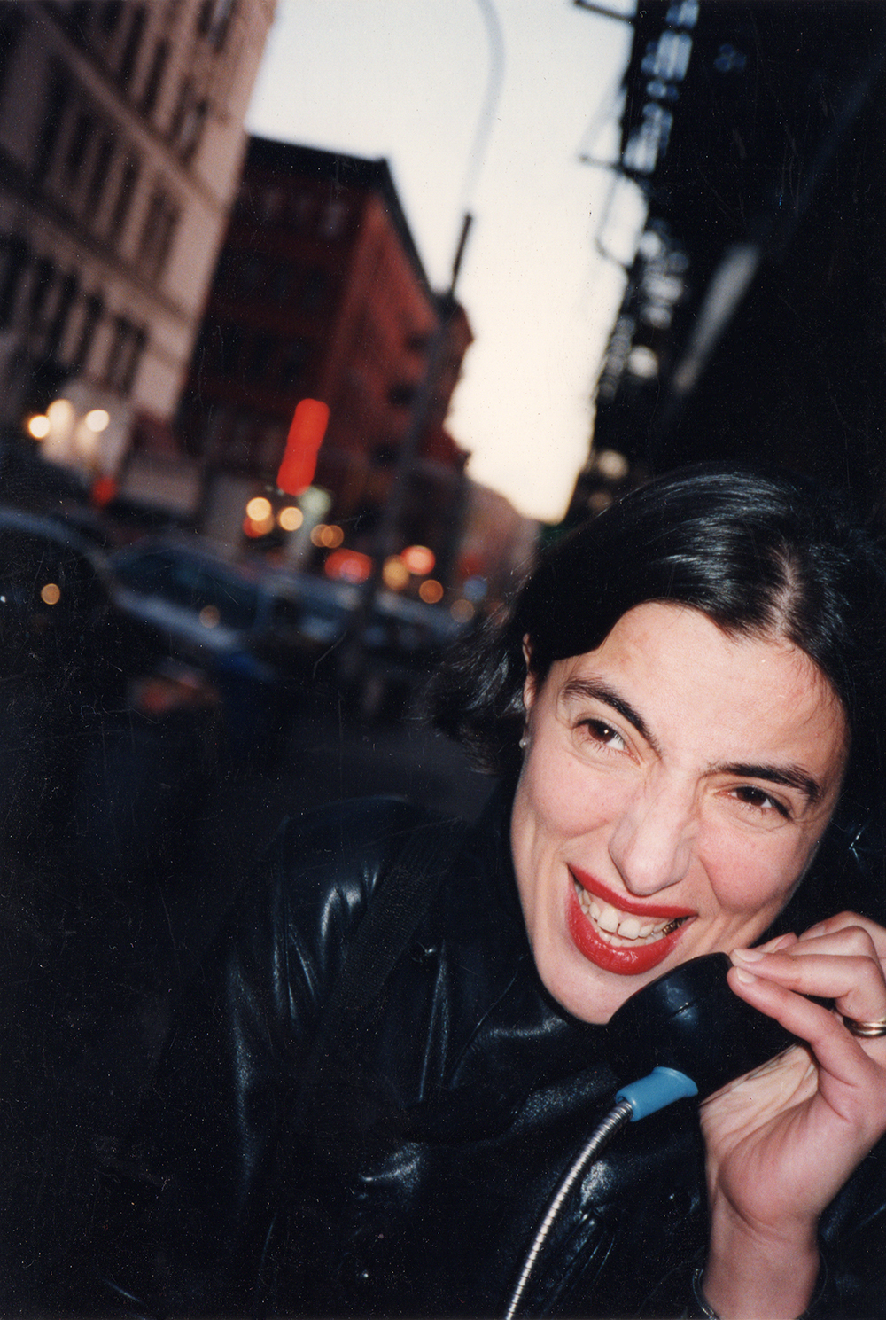 Valerie Trucchia in the streets of New York, 1995