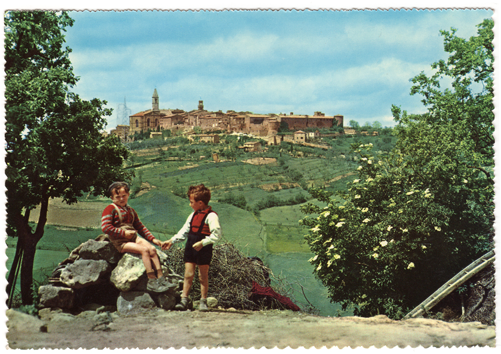 An Old Postcard from Tuscany