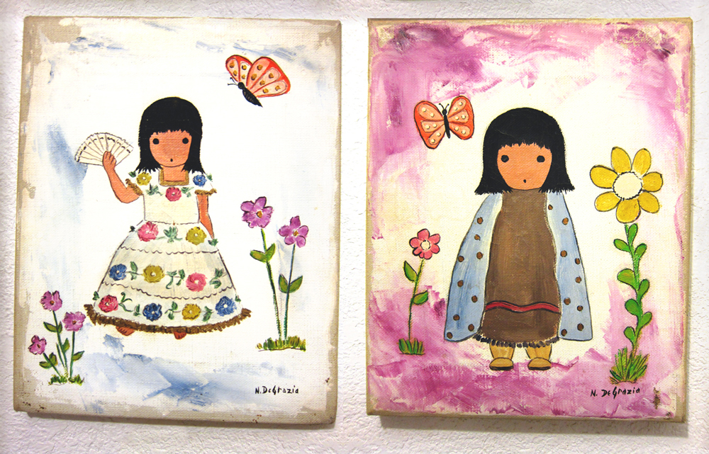 These 2 little paintings tickled my curiosity to the point that I decided to lookup DeGrazia.