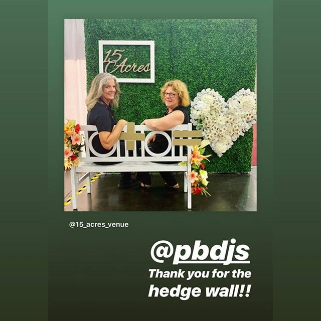 #Repost @15_acres_venue (@get_repost) ・・・ __ ➕  __ = ❤️ Our Instagram wall is up! Come take a picture and tag us with #15acres to share your pictures! ☺️ @bridalextravaganza .  Specially thanks to @steve.taylor.woodwork for the beautiful 15 Acres wood sign and @pbdjs for our hedge wall.  #bridalshow #houstonbridalshow  Good luck at the show this weekend @15_acres_venue @chefbservices and all of our friends there!  #pbdjs