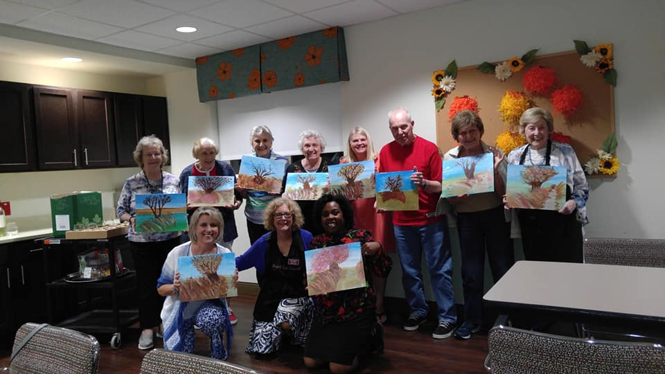 Fundraiser for the Alzheimer's Association at The Crossing at Hanover.  Painting:  Windy Fall Day