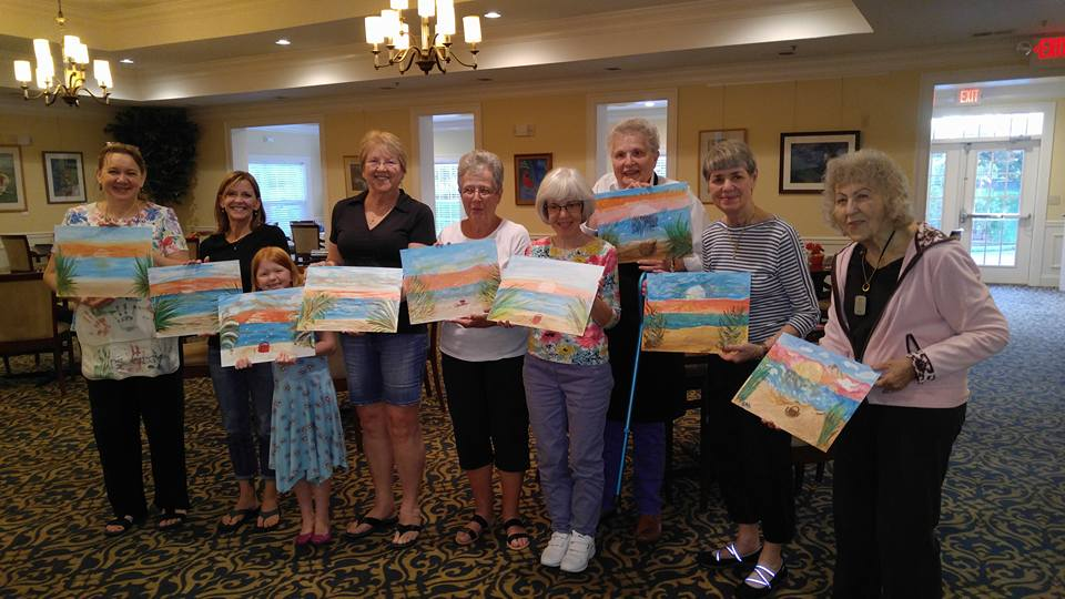 Resident Event at Cadence at the Glen  Painting:  Sunset Beach