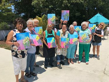 Resident Social at Carriage Hill Apartments  Painting:  Yellow Flower
