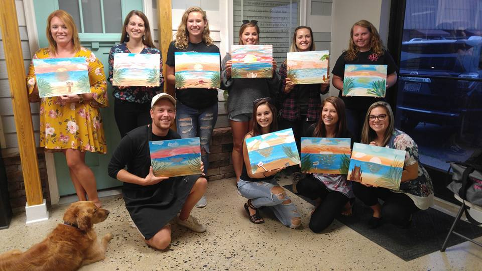 Team Building Event at RVA Restoration  Painting:  Sunset Beach