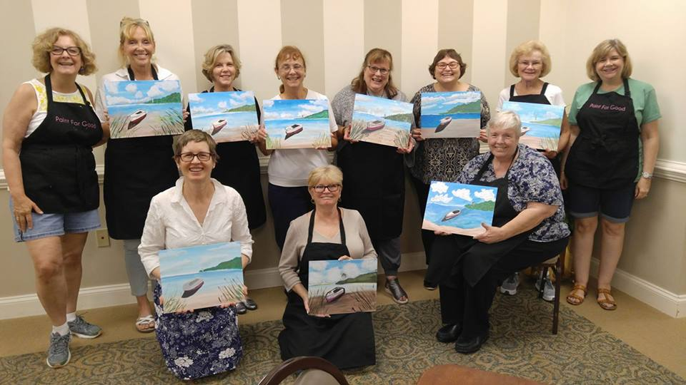 Resident Event at Crossridge  Painting:  Beach Getaway