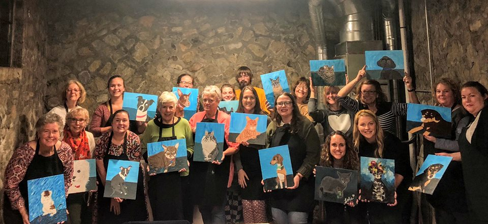 Paint Your Pet Night at Blue Bee Cider to benefit Richardson's Rescue