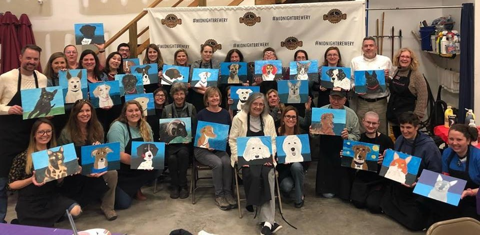 Paint Your Pet Night at Midnight Brewery to benefit Houlagan's Rest