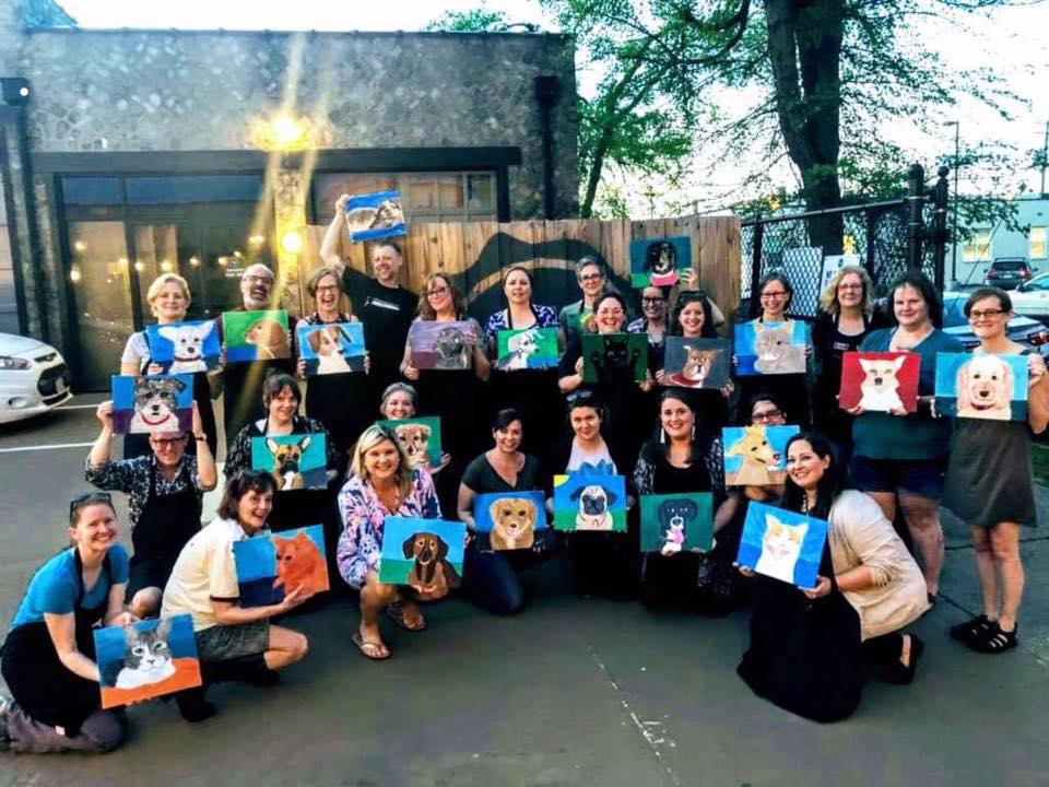 Paint Your Pet night at Blue Bee Cidery to benefit Cervivor