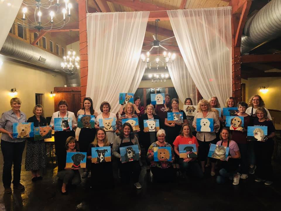 Paint Your Pet Night at Ashton Creek Vinyard to benefit Capital Area Rescue Effort