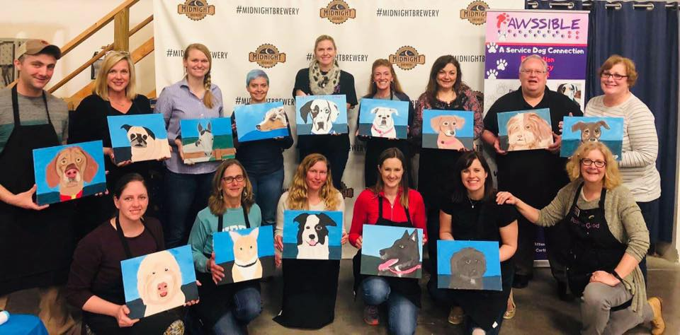 Paint Your Pet Night at Midnight Brewery to benefit Pawssible