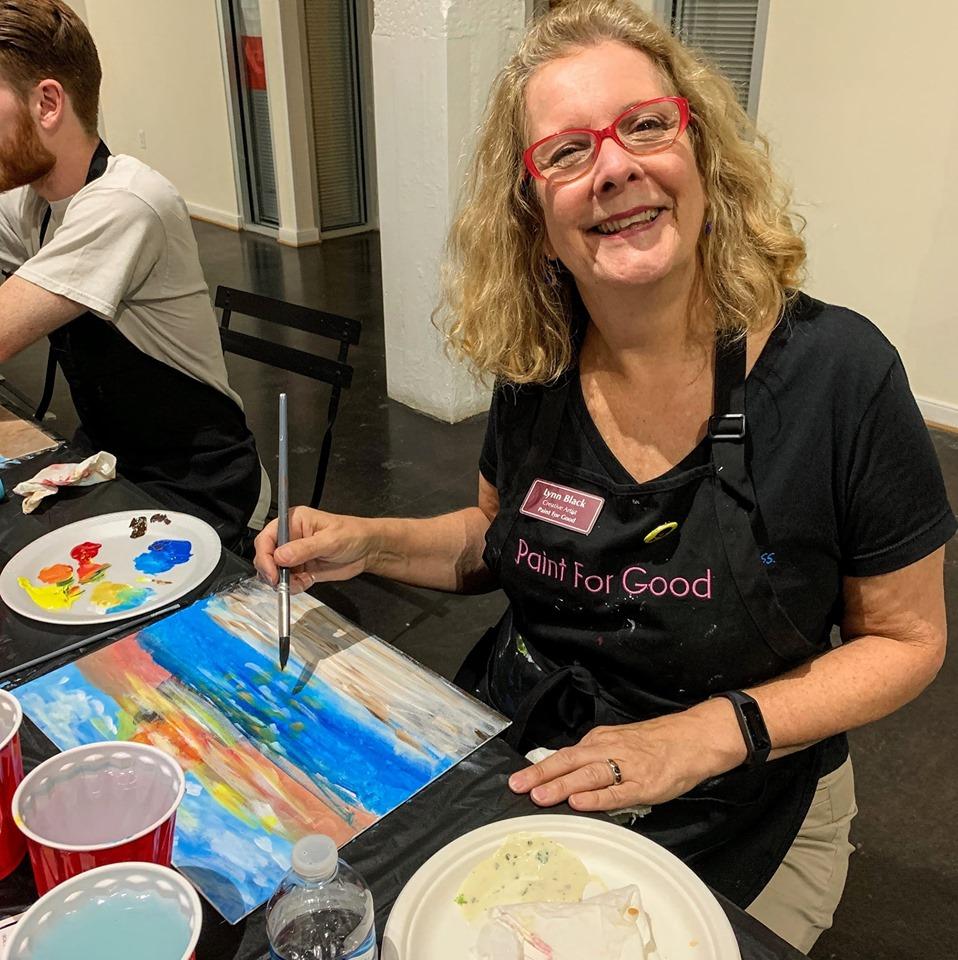 Lynn Black, Owner & Artist of Paint For Good