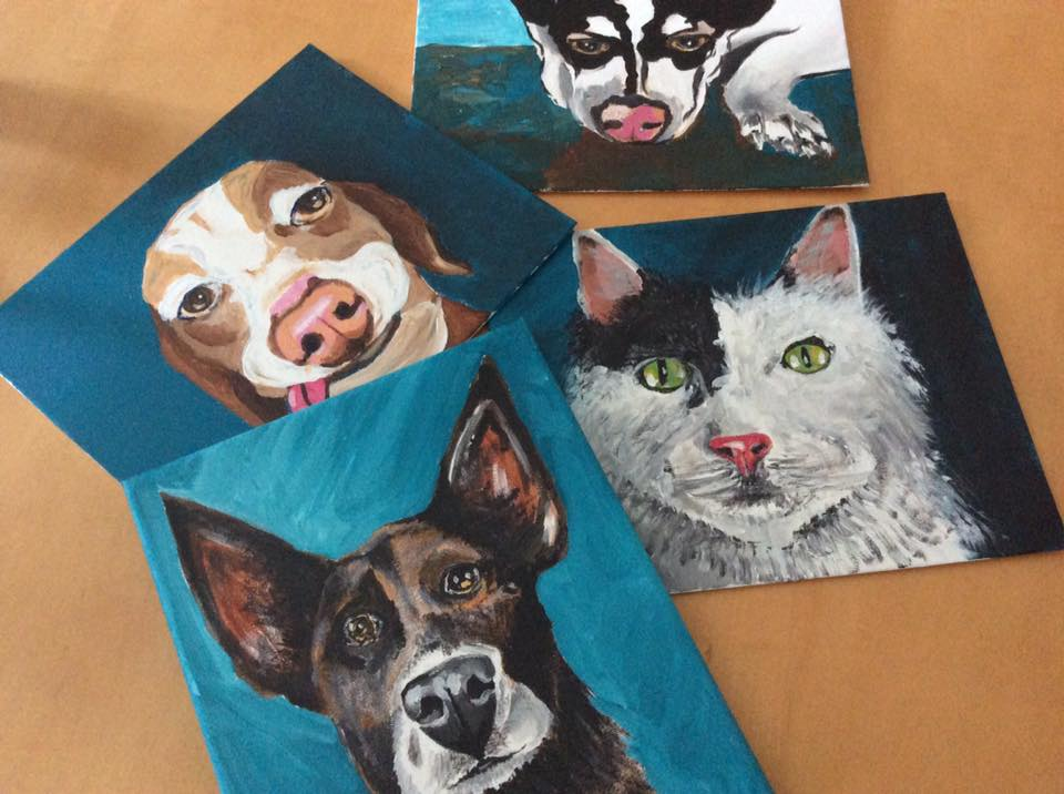Custom Pet paintings - Paint For Good can create a unique painting of your furry family member. Our pet portraits also make great gifts for any occasion!