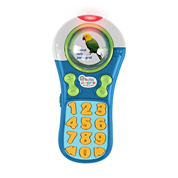 This is one of his favorites! He's always wanting to play with the tv remotes at home lol. This one makes lots of different noises. Like the other Baby Einstein toy, I like taking this along with us during walks and car rides.  Find it  HERE .