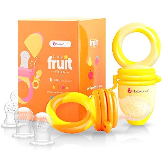 fruit teethers. sure!