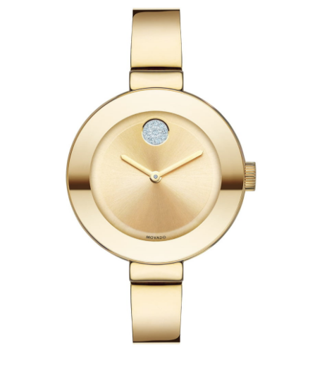 I'm not a huge watch person but I love this. So simple, classy and different. Comes in silver and rose gold also. 40% off