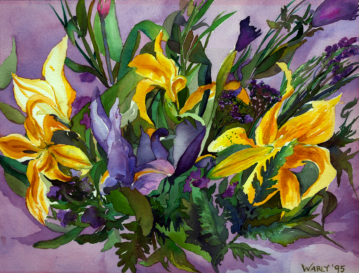 Yellow and Purple Blossoms