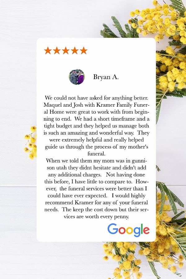 customer review for kramer