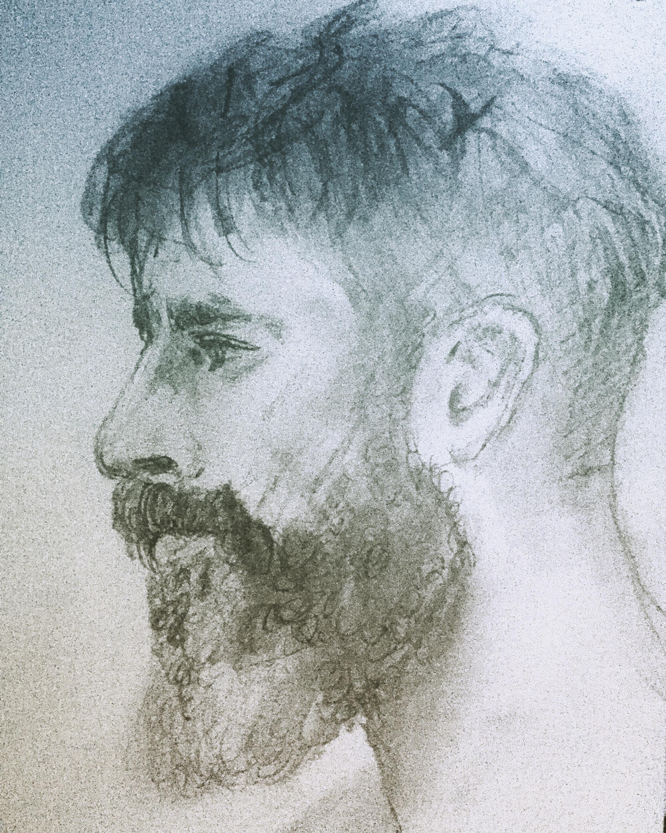 Bearded Man in Profile