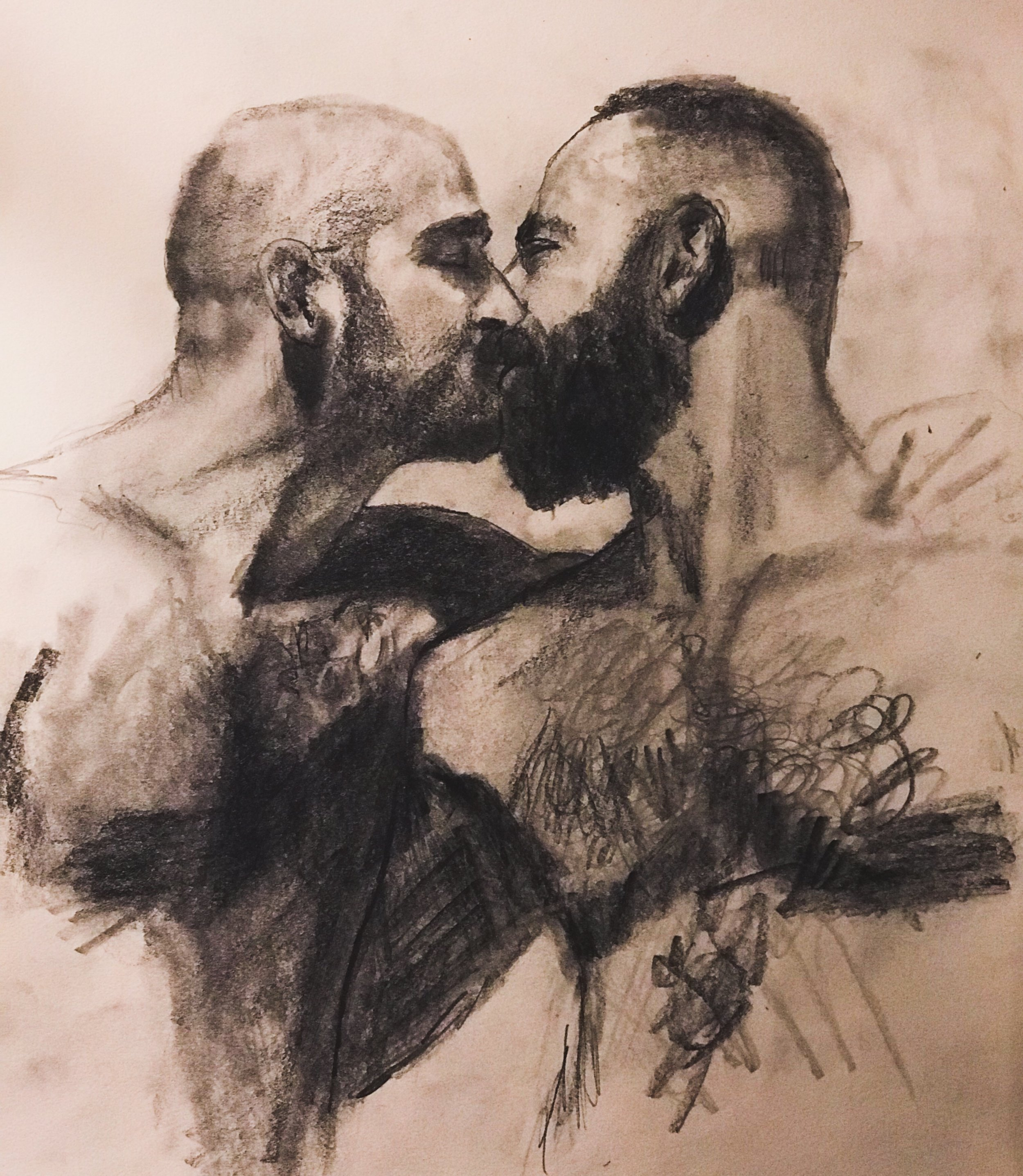Rough Sketch of a Kiss