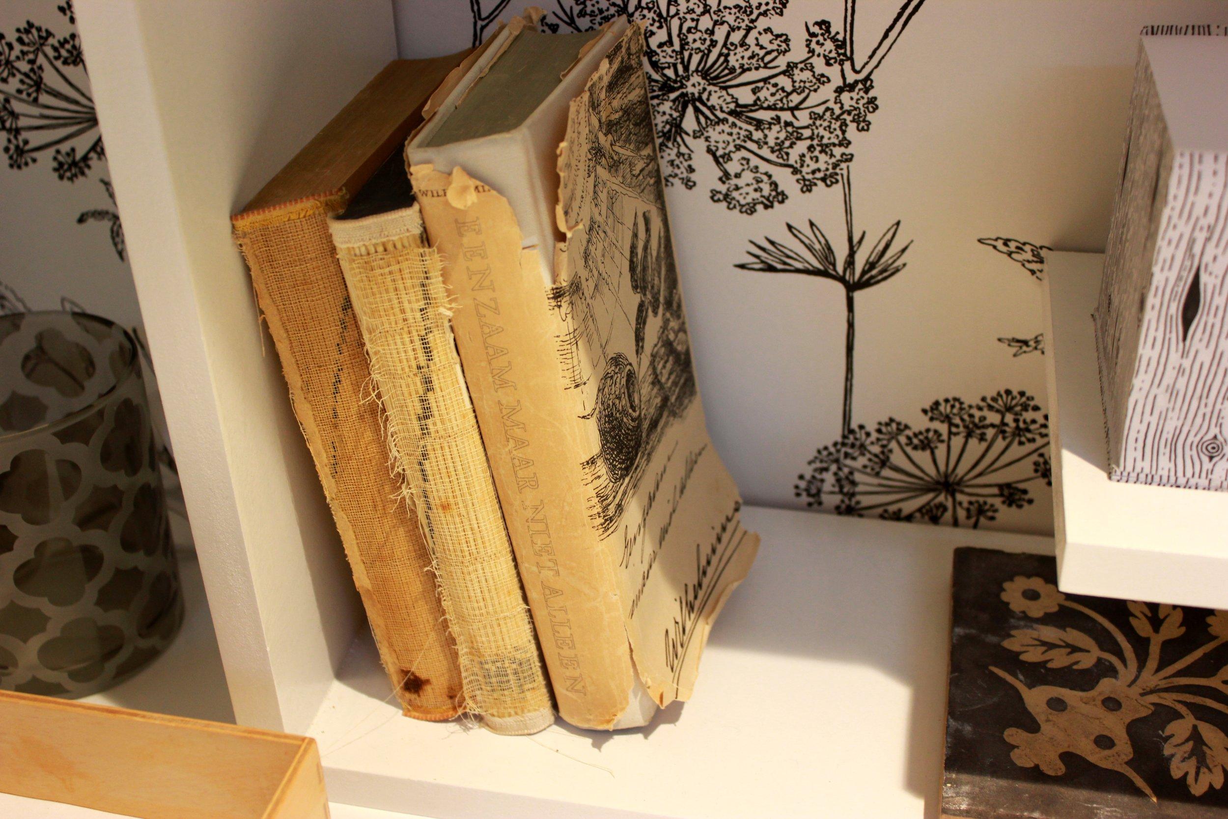 grateful for a shelf of books