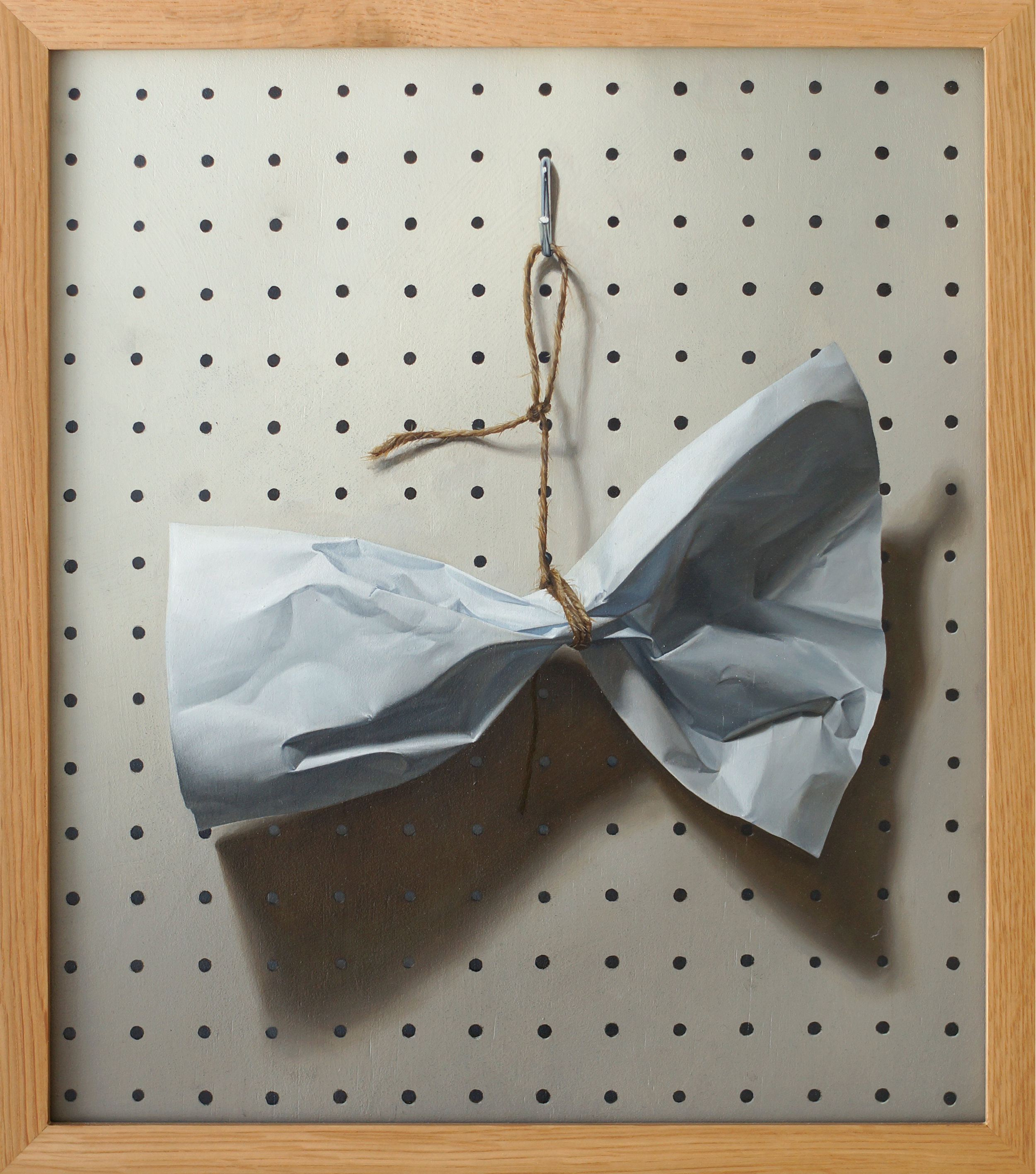 Bowtie - Oil on Board 38.4 x 43.5cm (framed) 2015.jpg