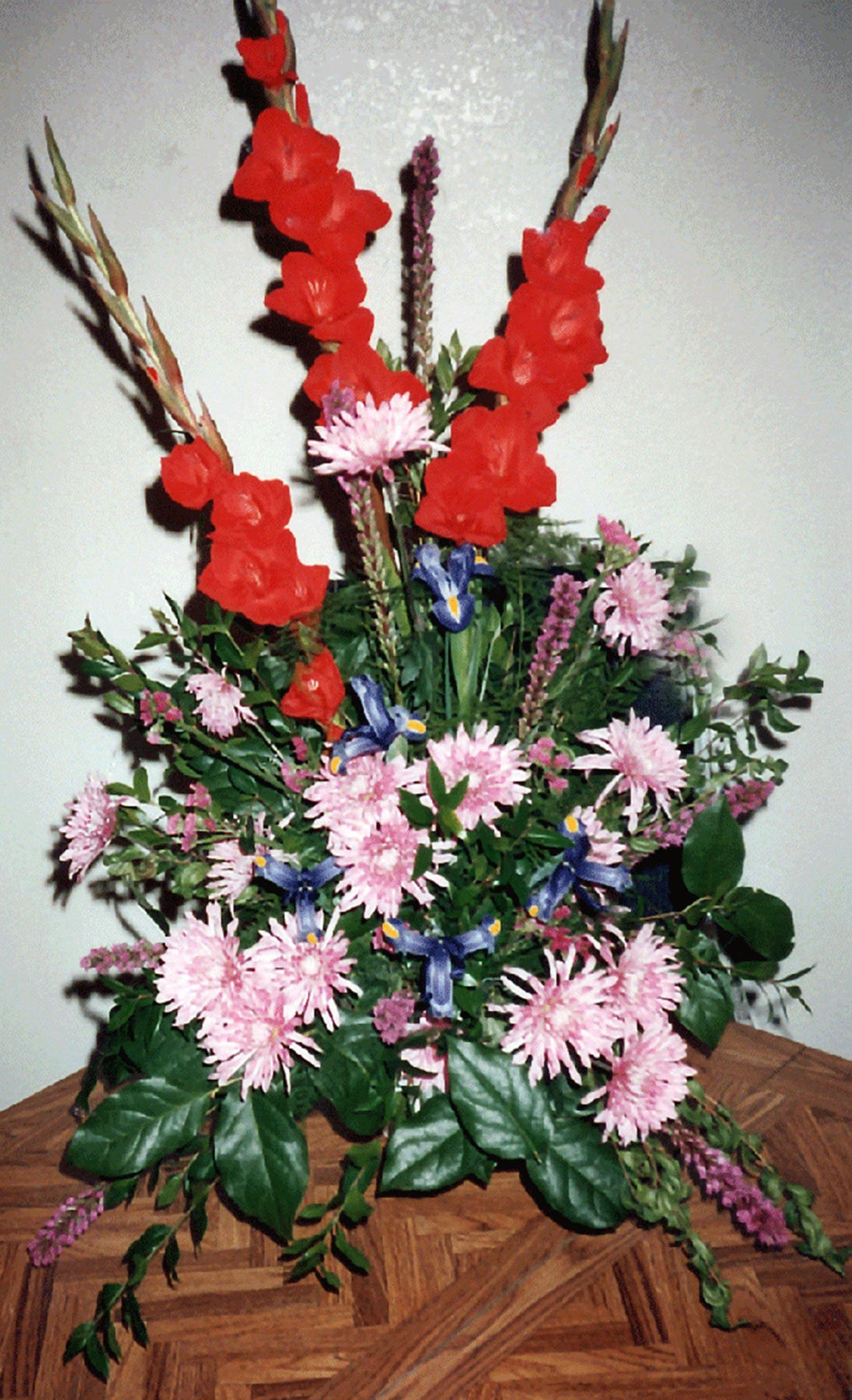 large sympathy arrangement - fresh flowers