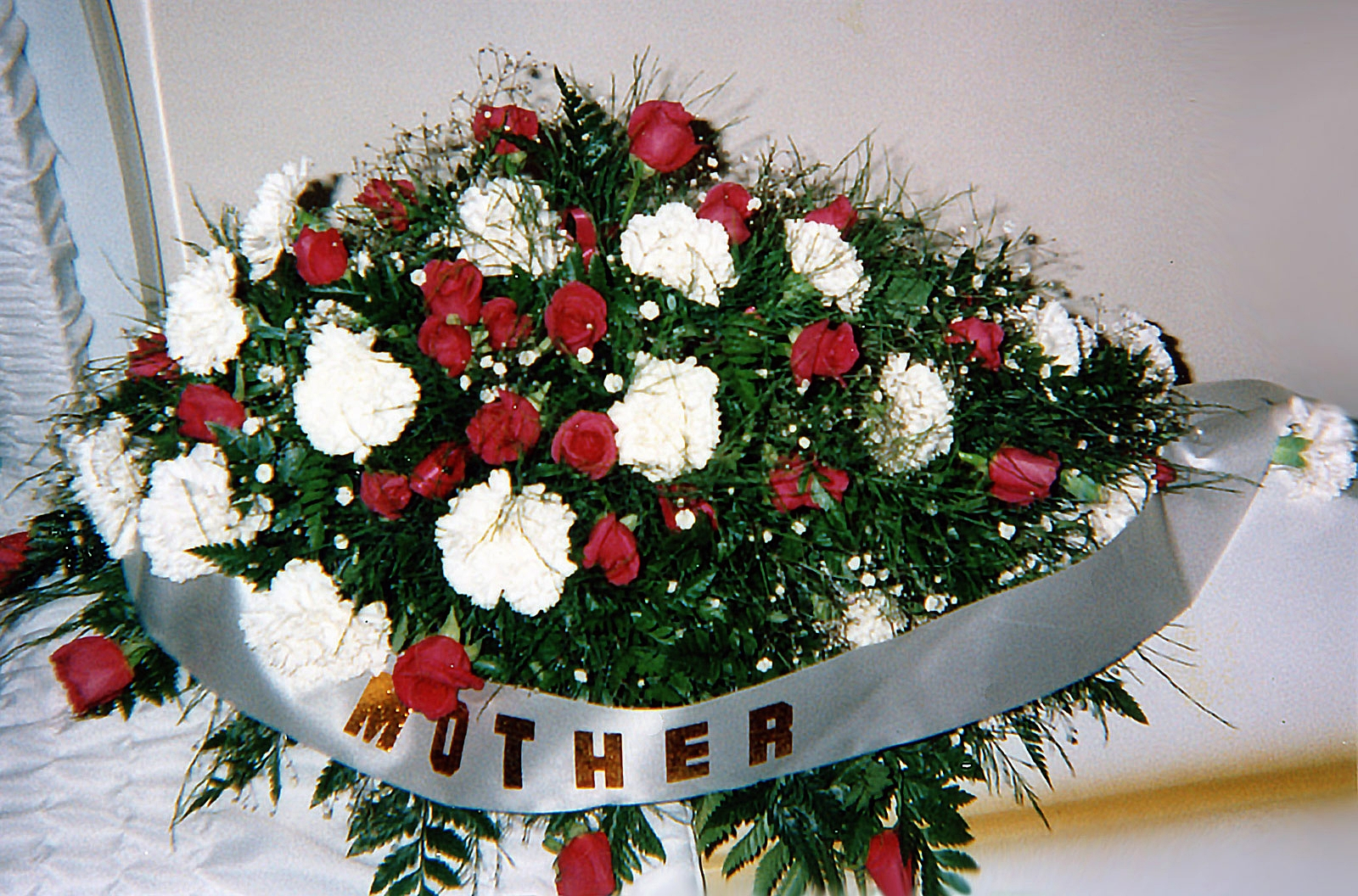 casket spray, family - fresh flowers