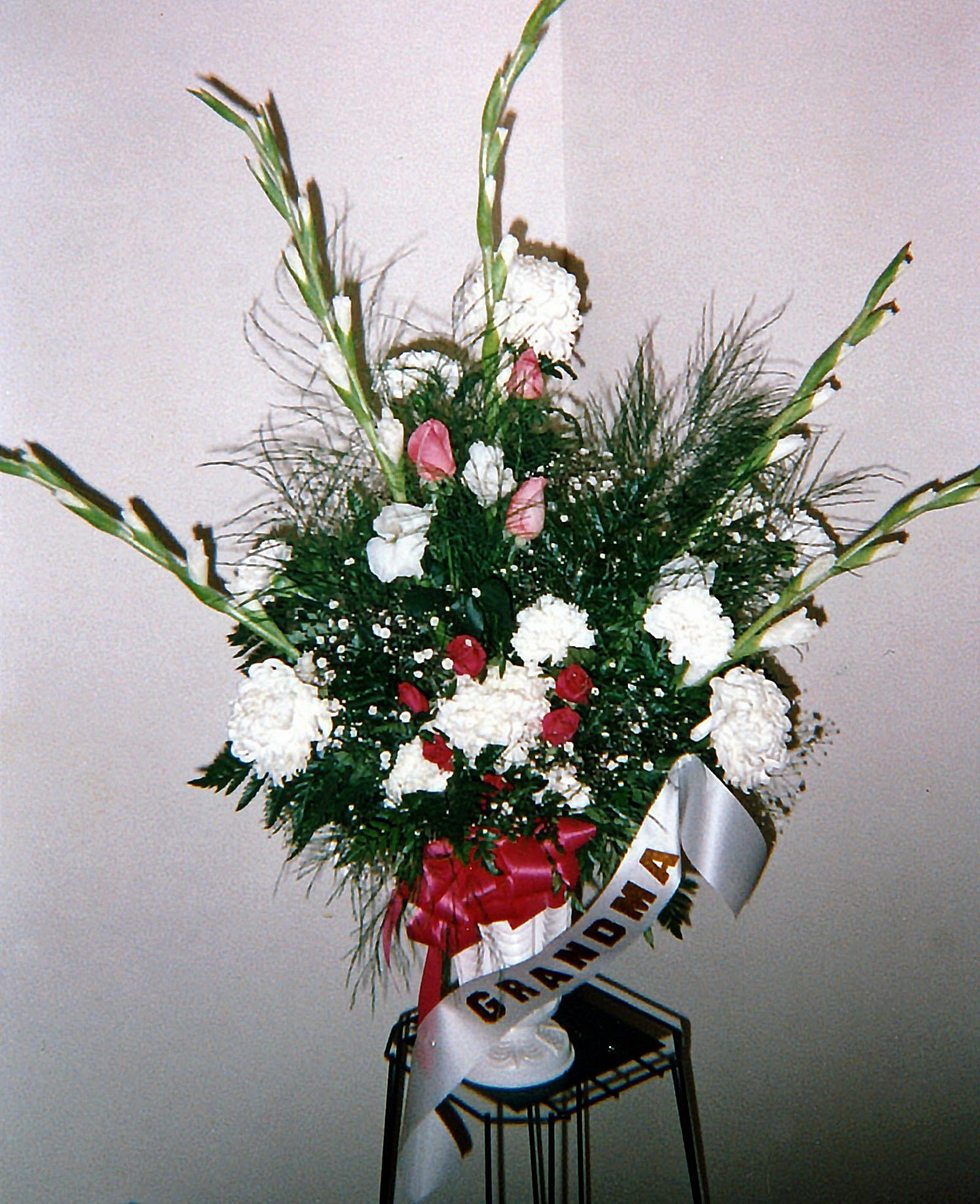 large sympathy arrangement, family - fresh flowers